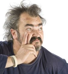 Free Portrait Of An Irascible Man Stock Image - 6864931