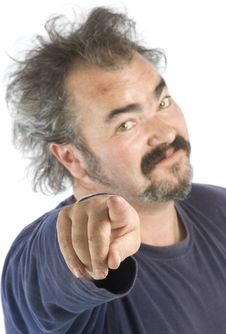 Free Portrait Of An Irascible Man Stock Images - 6864934