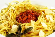 Free Spaghetti With Bolognese Sauce Royalty Free Stock Photography - 6865167
