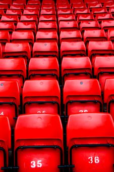 Free Bright Red Stadium Seats Stock Photography - 6865272