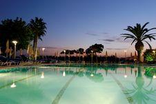 Free Swimming Pool & Sunset Stock Image - 6865361