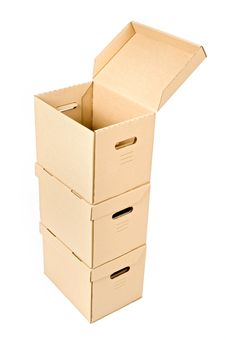 Free One Open Box On A Pile Royalty Free Stock Photography - 6865417
