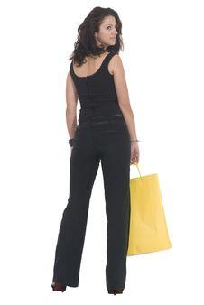 Free Yellow Bag Royalty Free Stock Image - 6865626