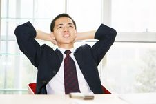 Free Young Asian Working In Office Royalty Free Stock Photos - 6865988