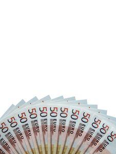 Free Fifty Euro Banknotes Royalty Free Stock Photo - 6866205
