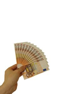 Free Fifty Euro Banknotes Stock Photography - 6866212