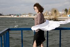 Free The Girl On Landing Stage Royalty Free Stock Photo - 6866465