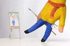 Free Happy Painter Stock Image - 6866531