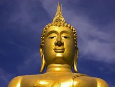 Free Big Golden Buddha Royalty Free Stock Images - 6867159