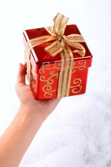 Free Small Red Gift On Hand Royalty Free Stock Image - 6867596
