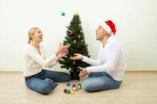 Christmas Jugglers Stock Images