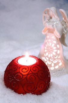Free An Image Of Glass Balls With Candle Royalty Free Stock Photos - 6867848