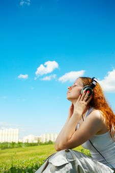 Listen To Music! Royalty Free Stock Photo