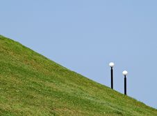 Free Two Lights On Green Hill Stock Image - 6868021