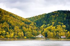 Spa By Lake Stock Photo