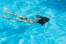 Girl In Swimming Pool Royalty Free Stock Photography