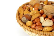 Free Basket Of Nuts Royalty Free Stock Photo - 6868475