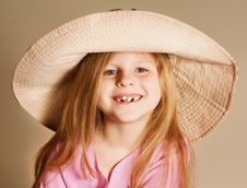 Free Small Girl In A Hat Stock Photos - 6868733