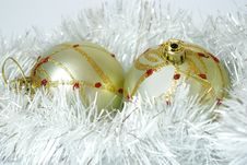 Free Two Spheres And Christmas Decorations Stock Photos - 6868863