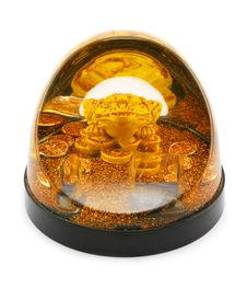 Gold Frog And Coins Stock Image