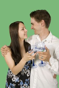Free Couple Drinking Royalty Free Stock Photos - 6869778