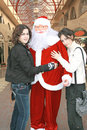 Free Santa Clause And Girls Stock Photography - 6873642