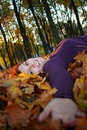 Free Girl In Leaves Royalty Free Stock Photos - 6877228