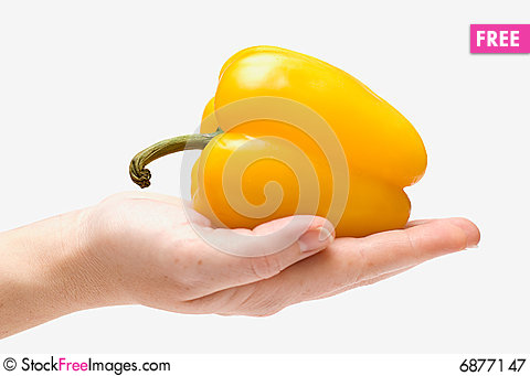 Free Yellow Peppers Royalty Free Stock Photography - 6877147