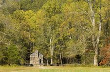 Free Log Cabin, Cades Cove, Great Smoky Mountains Royalty Free Stock Photography - 6870107