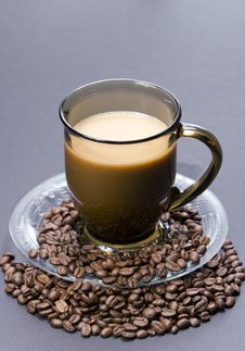 Free Coffe With Beans Royalty Free Stock Image - 6870346