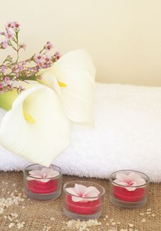 Free Relaxing Spa Scene Stock Images - 6870404