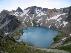 Free Blue Lake Of Murundzhu Royalty Free Stock Photos - 6870628