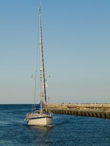 Free Sailboat In A Port Royalty Free Stock Photo - 6871245