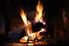 Free Fireplace Royalty Free Stock Photography - 6871467