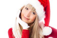 Free Beautiful Girl Dressed As Santa Stock Photos - 6872333
