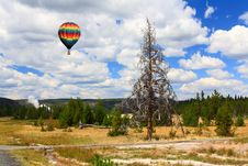 Free Upper Geyser Basin In Yellowstone Stock Photography - 6872342