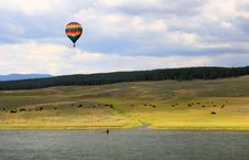 The Scenery Along The Yellowstone River Royalty Free Stock Photos