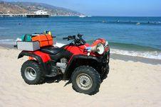 Free Red Lifeguard S Car Stock Image - 6872471