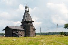 Old Wooden Church Of Ioann Zlatoust Royalty Free Stock Image