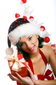 Free Smiling Christmas Woman Royalty Free Stock Photo - 6874585