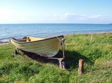 Skiff Boat On The Sand Stock Image