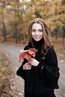 Free Autumn Beauty Girl. Stock Images - 6875214