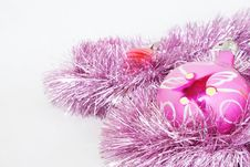 Toys On A Fur-tree Royalty Free Stock Image
