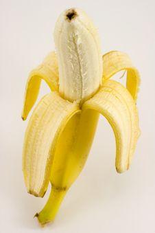 Free Ona Banana Isolated On White Stock Photo - 6875260