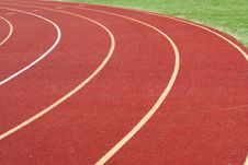 Free Red Running Track Royalty Free Stock Image - 6875966