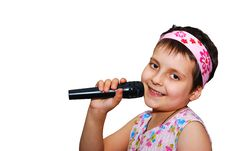 Free Young Singer Royalty Free Stock Photos - 6876108