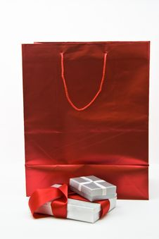 Free Gift Bag And Gifts. Royalty Free Stock Images - 6876129