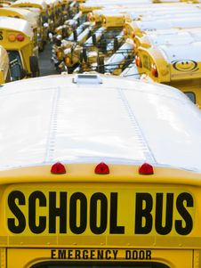 Free School Bus Parking Royalty Free Stock Images - 6876609