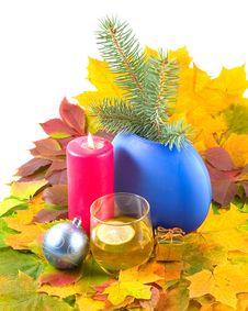 Autumn Cognac For Christmas Stock Image