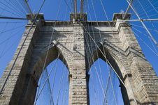 Free Brooklyn Bridge S Arches Royalty Free Stock Photo - 6876875